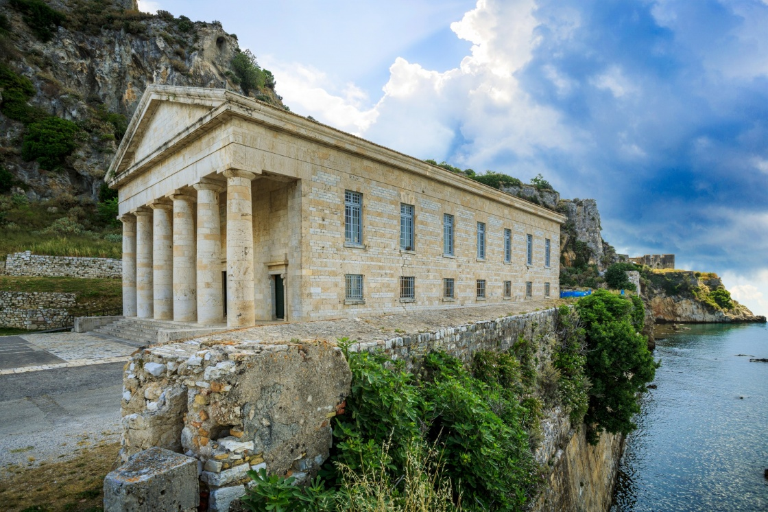 'Old byzantine fortress on the Greek island of Corfu (Kerkyra)' - Corfu