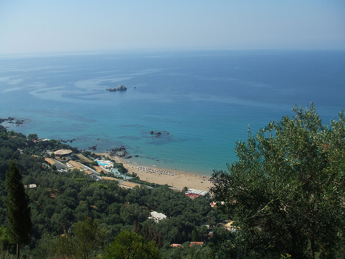 The Central area of Corfu