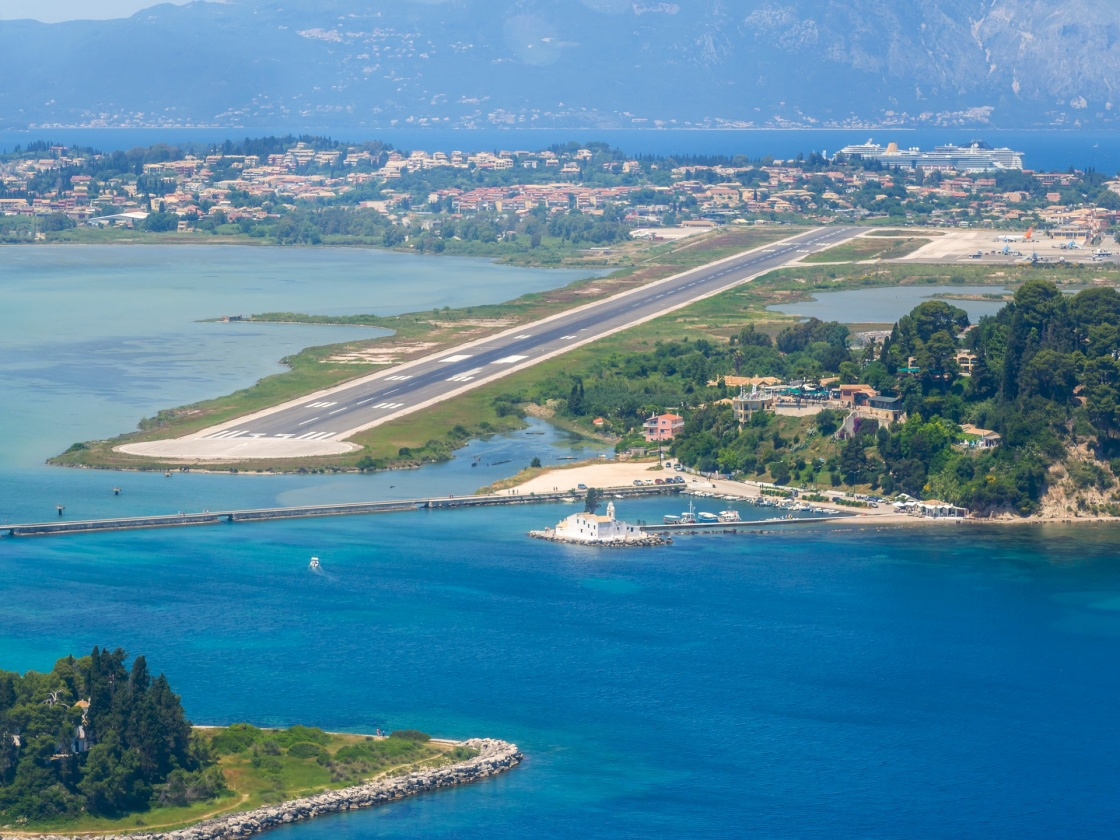 'Aerial view of Corfu airport in Greece' - Corfu